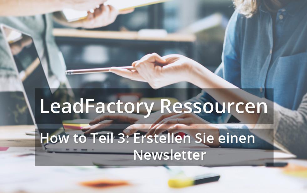 How to Teil 3: Erstellen Sie einen Newsletter